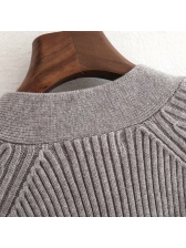 Hot Sale Colorful Buttons Loose Knitted Coats