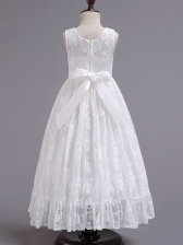 New Arrival Lace Bow Sleeveless Princess Dresses
