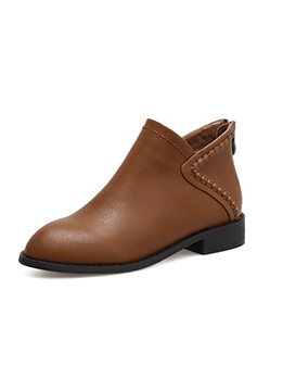 British Style Slip On Matching Ankle Boots