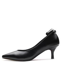 Hot Sale Kitten Heel Black Office Shoes