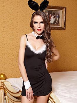 Halloween Euro Rabbit Girl Sexy Game Tight Uniform