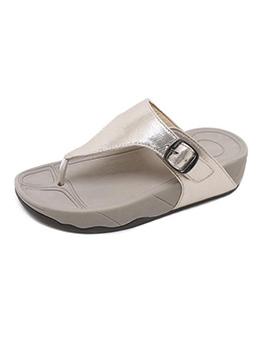 Summer Slip On Solid Flip Flop Slippers