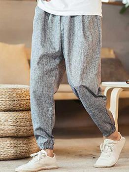 Casual Solid Color Low Waist Long Pants