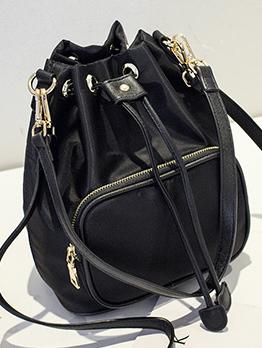 Fashion Drawstring Bucket Shoulder Bags