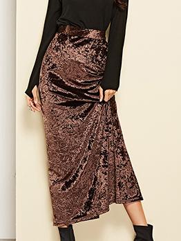 New Arrival Slit High Waist Skirts