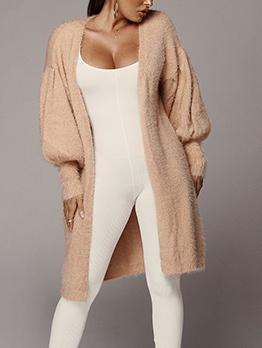 Euro V Neck Tassel Patchwork Long Knitted Coat