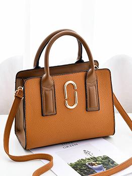 Fashion OL Style Contrast Color Shoulder Bags