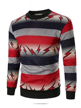 Casual Printing Color Block Thick Sweatshirts