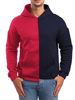 Characteristic Color Block Asymmetrical Men Hoodies