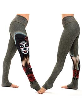 Hot Sale Elastic Waist Printed Yoga Pants
