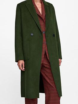 Fashion Lapel Collar Loose Long Blazer Coat