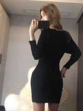 New Arrival Off Shoulder Knitting Short Dresses