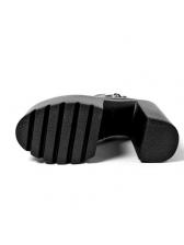 Fashionable Metal Chunky Platform Boots For Women