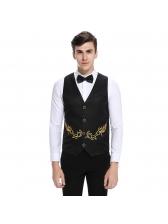Fashion Single-Breasted Embroidery Waistcoat