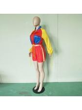 Fashion Hot Sale Colorblock Tie-Wrap 2 Piece Sets