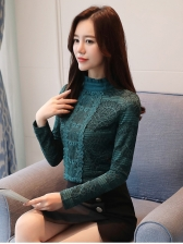 Fall Lace Agaric Laces Fashionable Blouse For Women