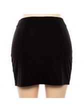 Hot Sale Color Block Slit Sexy Skirt