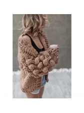 Euro Solid Wool Warm Women Cardigan