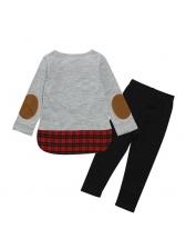 Euro Moose Plaid Patchwork Christmas Costume