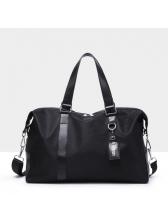 Versatile Black Zipper High-capacity Hand Bags