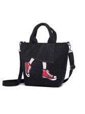 Fashion Korean Geometric Patch Shoulder Bags
