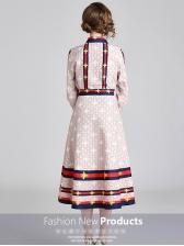 Vintage Contrast Color Bow 2 Piece Skirt Sets