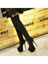 Fashionable Solid Platform High Heel Long Boots