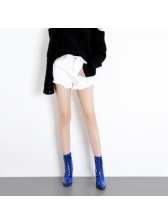 Chic Pointed Chunky Mid Calf Boots For Women