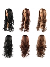 Hot Sale Center Parting Long Wavy Synthetic Wigs For Women