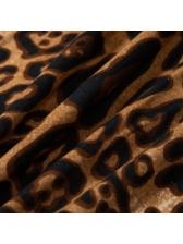 Hot Sale Fashion Leopard Print Fitted Women Bodysuit