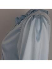 Fashion V Neck Lantern Sleeve Ruffled Blouses
