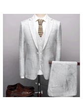 Fashion Single-breasted Solid Fitted Men Suits
