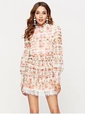 Charming Patchwork Floral Two Pieces Sets