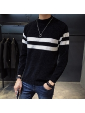 Color block Fitted Personality Sweater For Men