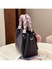 Korean Contrast Color Flamingo Design Shoulder Bags
