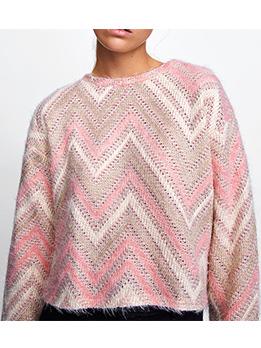Autumn Fashion Geometric Printed Short Sweater