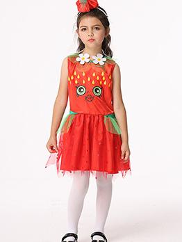 Halloween Printed Cartton Cute Girl Dress Cosplay
