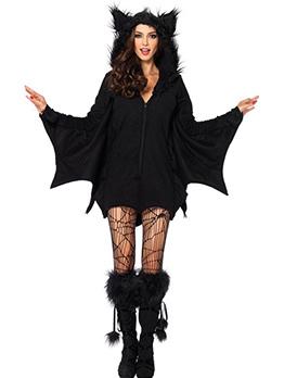 Hot Sale Women Furry Halloween Vampire Batman Dress