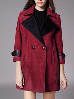 New Arrival Lapel Solid Pocket Loose Women Coat