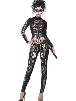 New Arrival Skull Printing Fashion Halloween Costume Cosplay