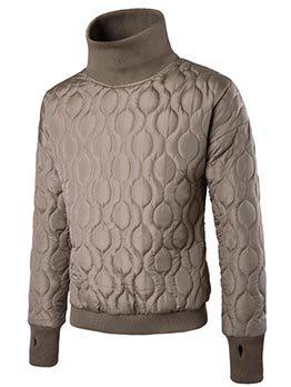 Winter High Neck Embossed Sweatshirts For Men