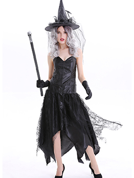 Halloween Black Devil Witch Cosplay Costume Sets