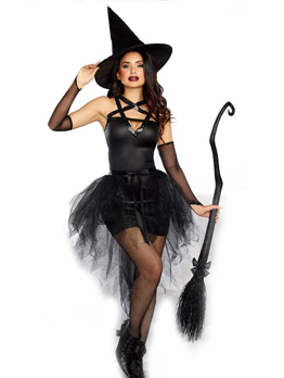 Fashion Solid Irregular Demon Witch Halloween Costume Cosplay