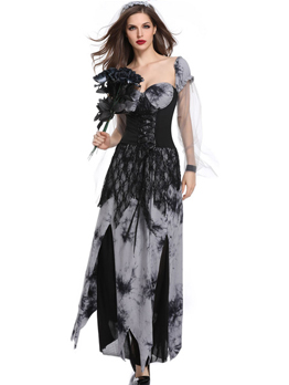 Euro Vampire Bride Cosplay Halloween Costume