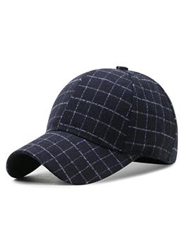 Winter Fashion Plaid Casual Versatile Baseball Cap