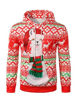 Hot Sale Christmas Printed Hoodies For Men