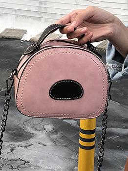 Simple Style Colorblock Semicircle Shoulder Bags