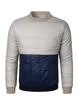 Korean Design Color Block Long Sleeves Men Sweatshirt