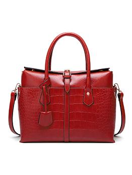 Hot Sale Alligator Print Large Capacity Leather Handbags