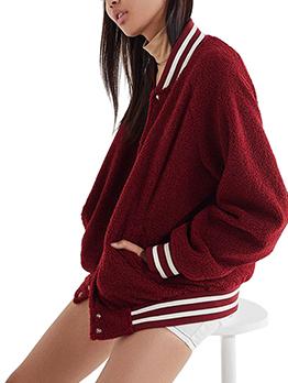 Winter Stand Neck Pocket Womens Warm Jacket